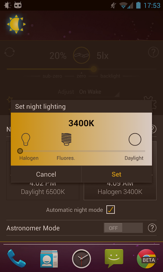 Lux Auto Brightness - screenshot