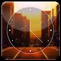 Sunset City HD Analog Clock icon