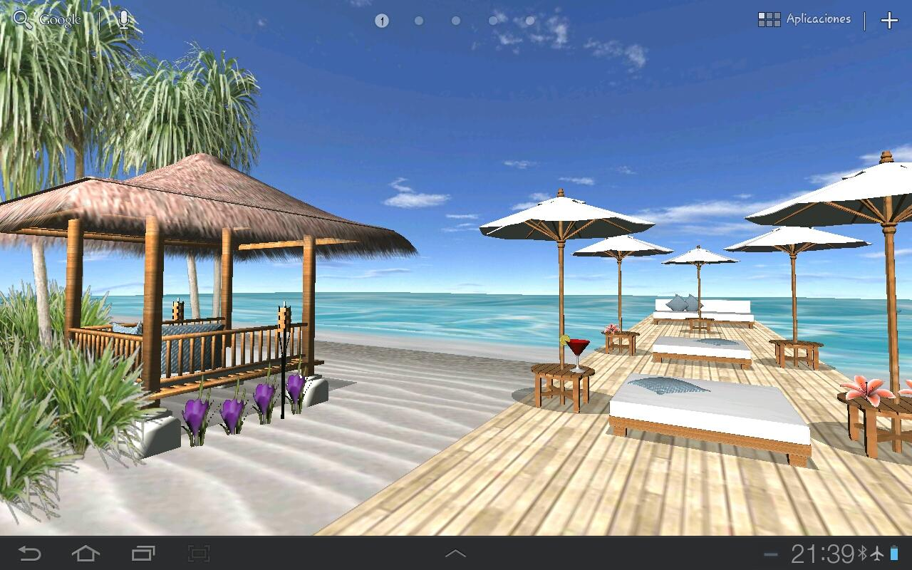 Beach In Bali 3D PRO LWP - screenshot