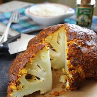 Whole Roasted Curry Cauliflower