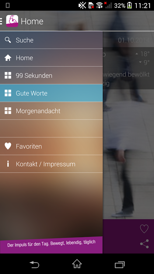 AndachtsApp- screenshot