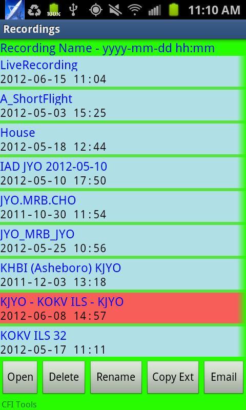 CFI Tools Flight Recorder- screenshot