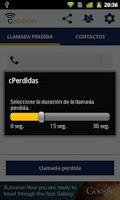 Screenshot of cPerdidas - Missing calls