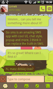 GO SMS Pro Hedgehog Theme - screenshot thumbnail