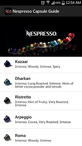 Nespresso Capsule Guide