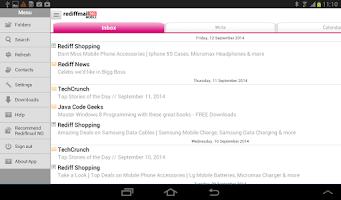 Screenshot of Rediffmail NG