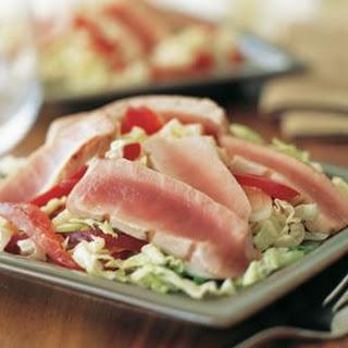 Seared Tuna with Asian Slaw.