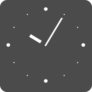 ICS Black Analog Clock Widget
