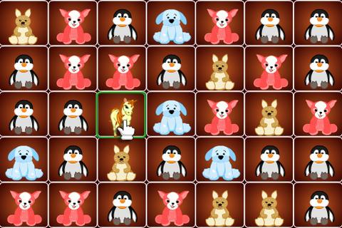 Cute animals match 3 game