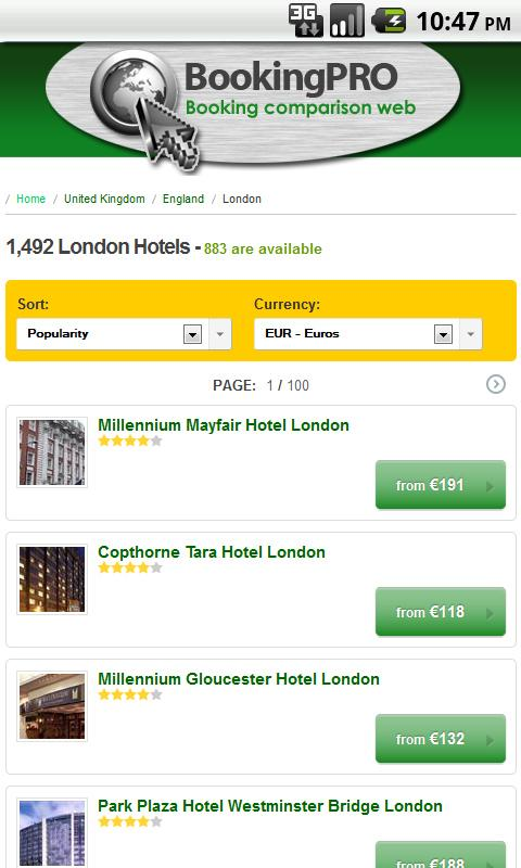 Cheap hotels, hotel & hostels- screenshot