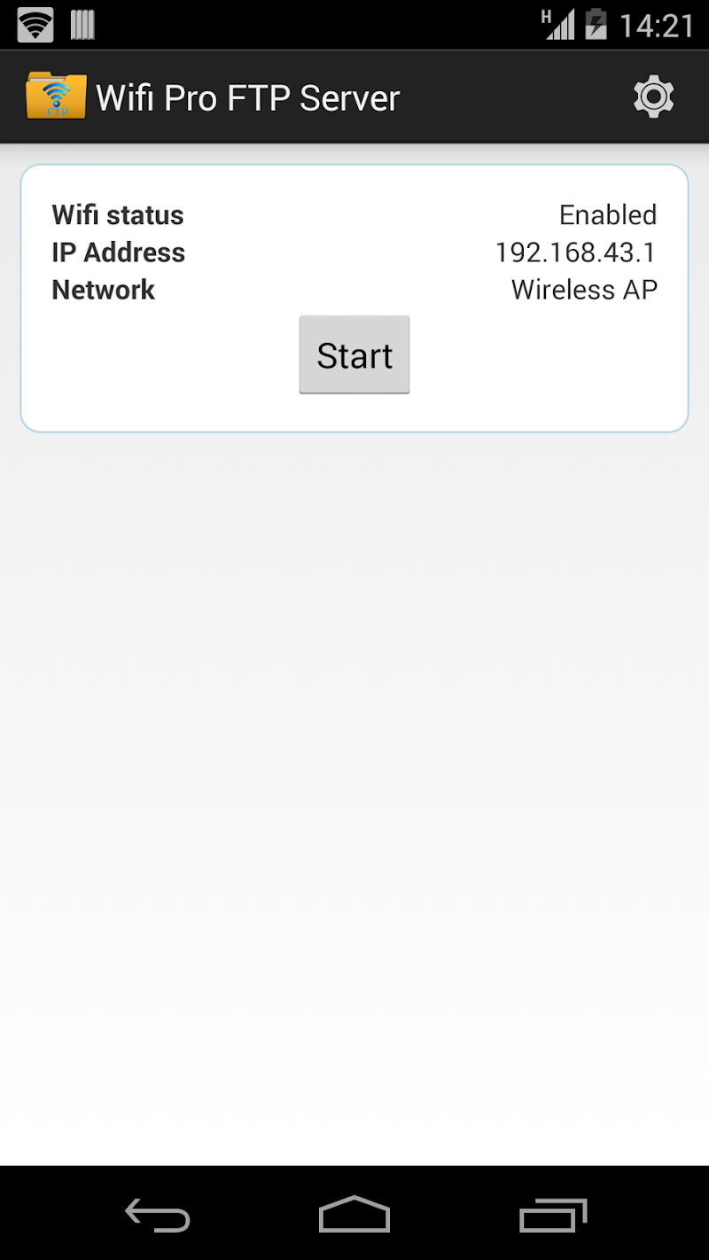 WiFi Pro FTP Server Screenshot 1