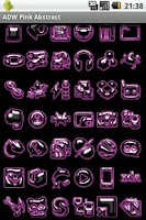 Screenshot of ADW Pink Abstract Theme
