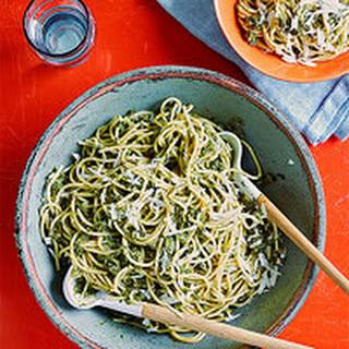 Charred Scallion Pesto Pasta.