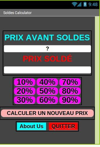 Soldes Calculator