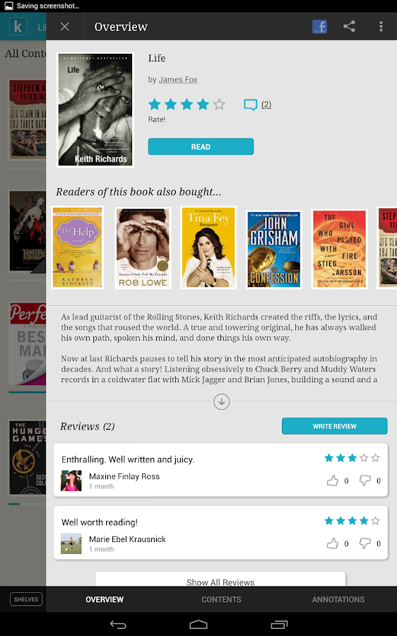 Kobo - screenshot