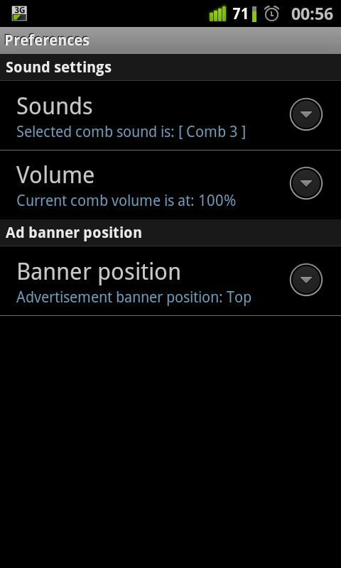 Music comb for Android (aCOMB)- screenshot