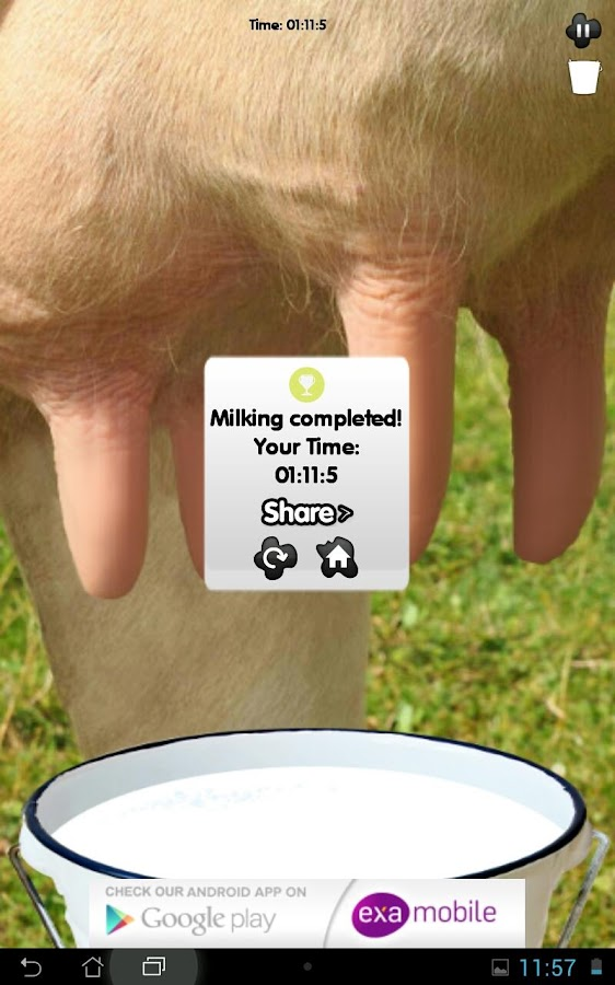 Milk the Mad Cow- screenshot