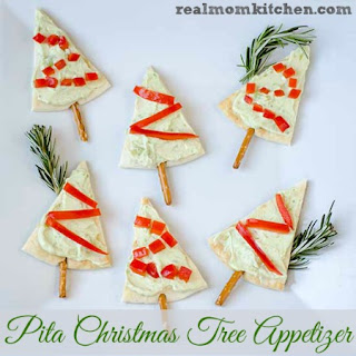 Pita Christmas Tree Appetizers.