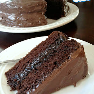 Gluten-, Egg-, and Dairy-Free Chocolate Cake.