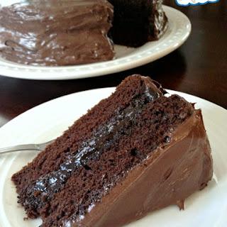 Gluten-, Egg-, and Dairy-Free Chocolate Cake.
