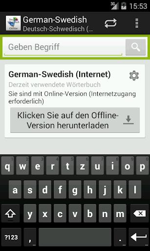 German-Swedish Dictionary