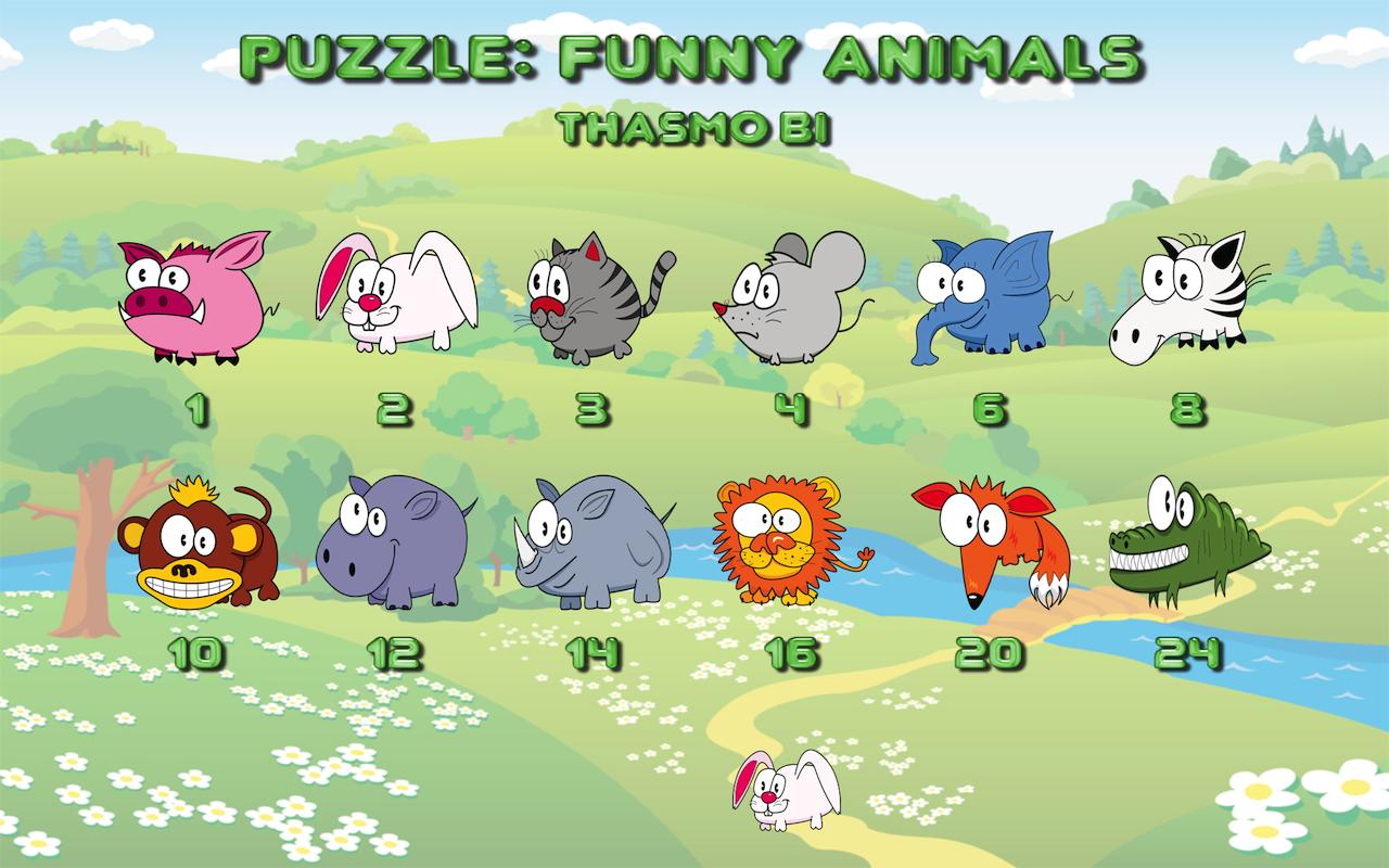 Funny animal puzzle HD Full - screenshot