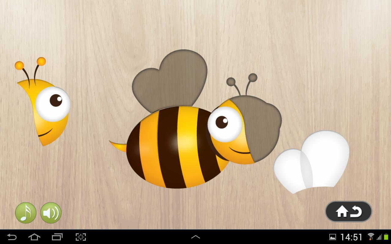 Puzzles animales para niños: captura de pantalla