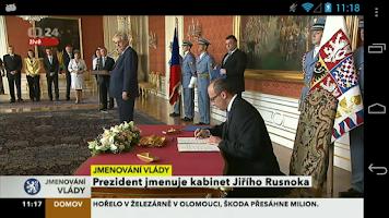 Screenshot of ČT 24