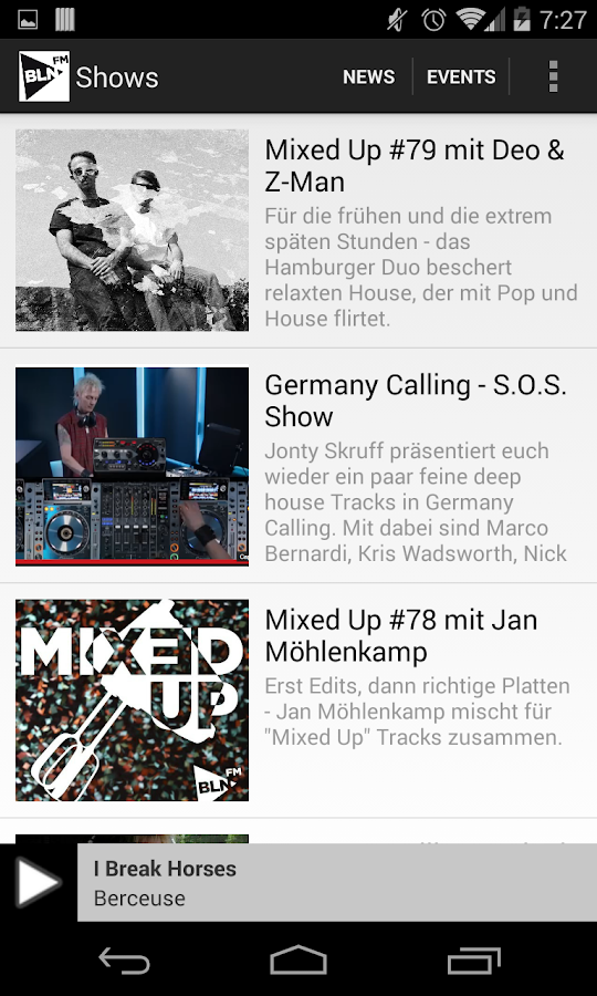 BLN.FM- screenshot