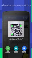 Screenshot of QR-code scanner