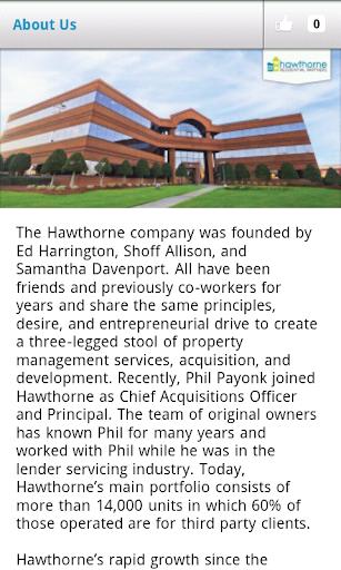 【免費生活App】Hawthorne Residential Partners-APP點子