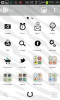 Screenshot of Zebra go launcher theme