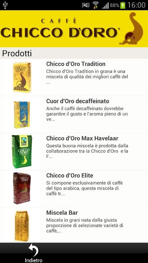 Caffè Chicco d'Oro - screenshot
