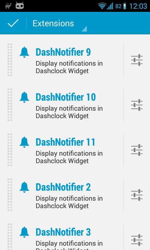 DashNotifier for DashClock- screenshot