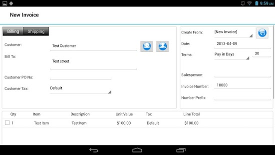 Express Invoice Plus - screenshot thumbnail