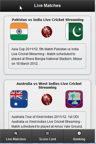 Live Cricket - screenshot