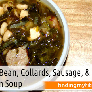 White Bean, Collards, Sausage, and Chicken Soup