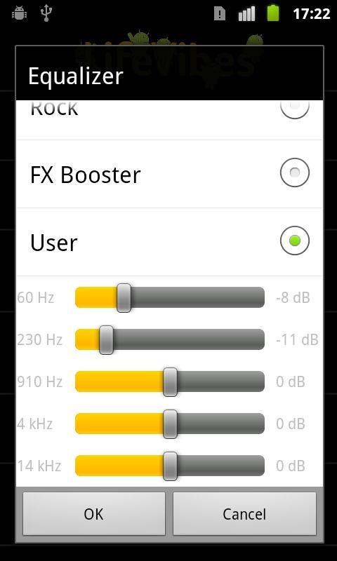 MusicFX- screenshot