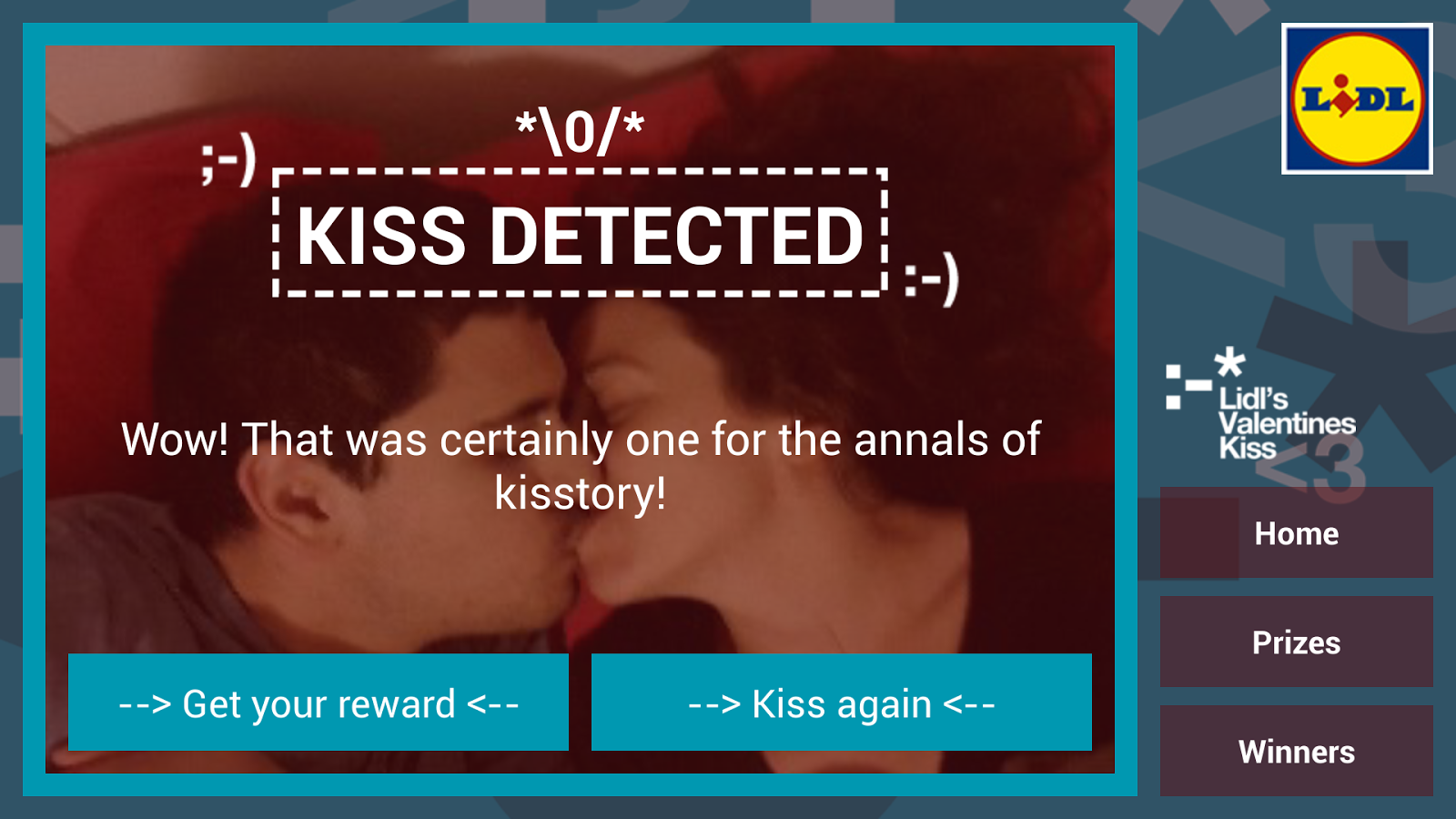 Lidl's Valentine Kiss - screenshot