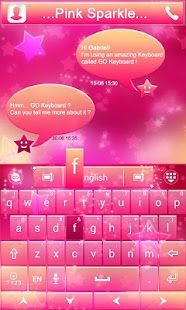 Pink-Sparkle-GO-Keyboard-Theme 2