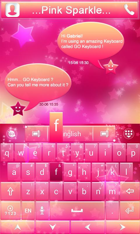 Pink-Sparkle-GO-Keyboard-Theme 9