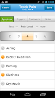 Screenshot of WebMD Pain Coach