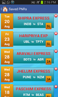 Indian Rail Train & IRCTC Info - screenshot thumbnail
