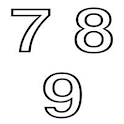 Child numbers icon