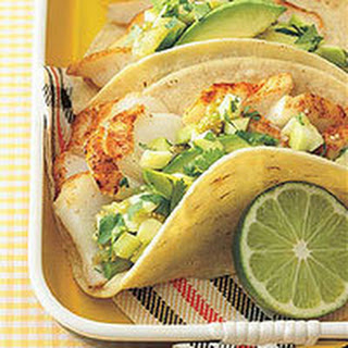 Fish Tacos with Summer Salsa.