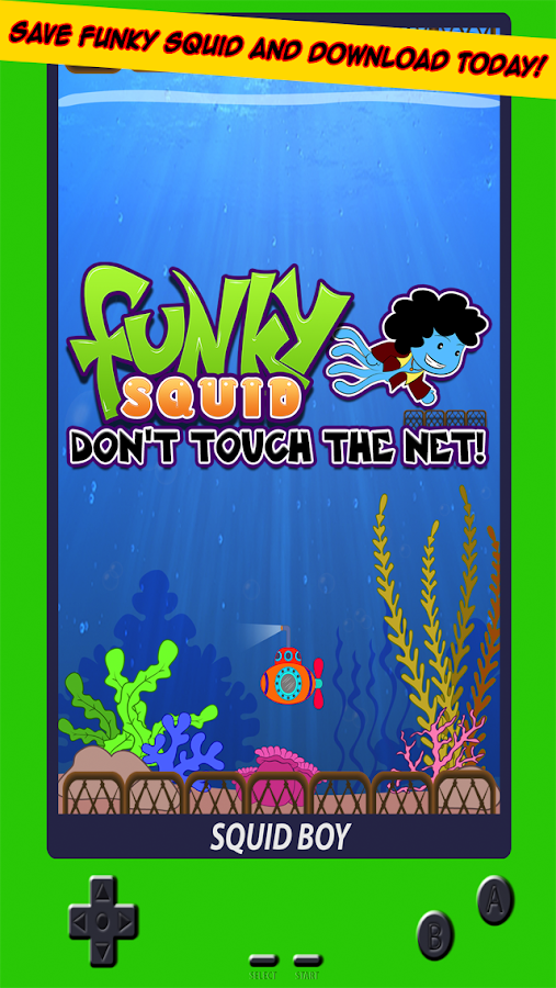 Funky Squid Dont Touch The Net- screenshot