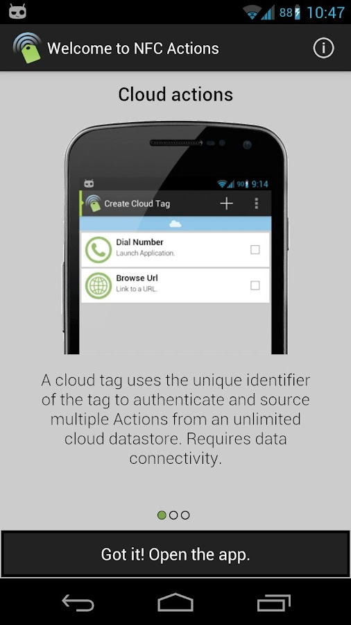 NFC Actions- screenshot