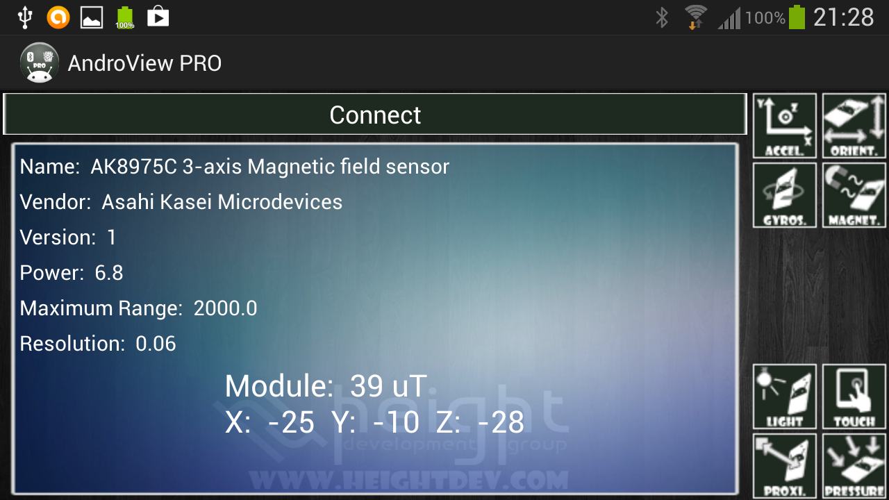 AndroView PRO + LabView VI- screenshot