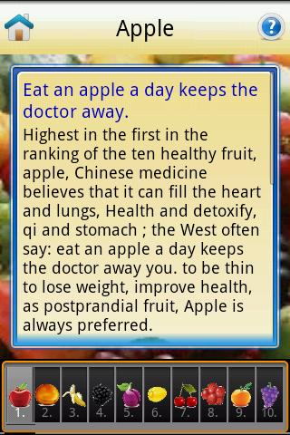 Top Ten healthy fruit - screenshot