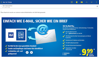 Screenshot of 1&1 Mail